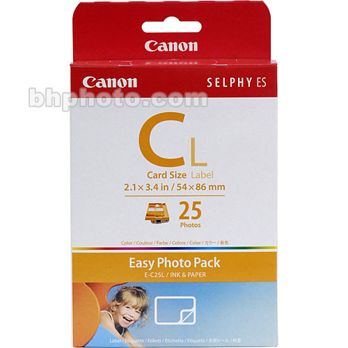 Canon EC-25L Card Size Label Easy Photo Pack