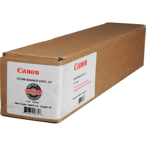 """Canon Scrim Banner Vinyl for Inkjet - 24"""" Wide Roll - 40' Long"""