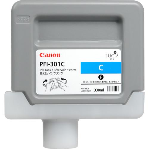 Canon PFI-301C Cyan Ink Tank (330 ml)