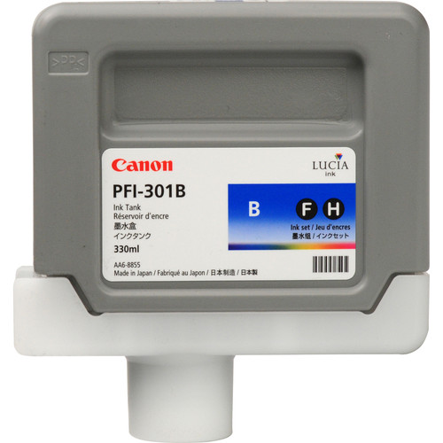 Canon PFI-301B Blue Ink Tank (330mL)
