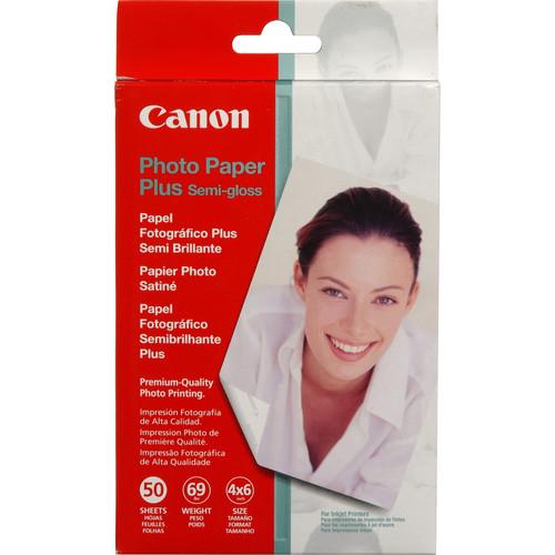 """Canon SG-201 Photo Paper Plus Semi-Gloss (4 x 6"""", 50 Sheets)"""
