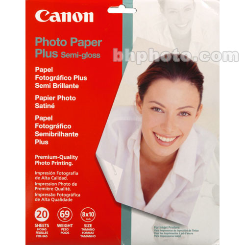 "Canon SG-201 Photo Paper Plus Semi-Gloss (260 gsm, 8 x 10"", 20 Sheets)"
