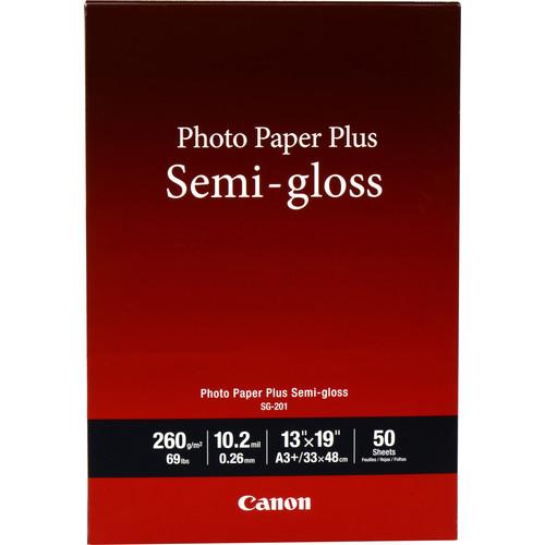 """Canon SG-201 Photo Paper Plus Semi-Gloss (13 x 19"""", 50 Sheets)"""