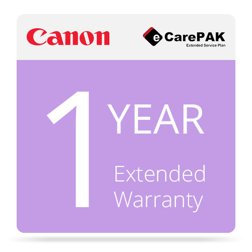 Canon 1-Year Extended Warranty (Care-Pak) For Canon imagePROGRAF iPF6300 Printers