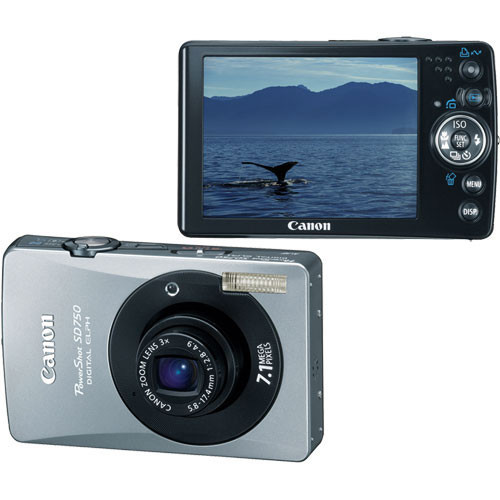 Canon PowerShot SD750 Digital Elph Digital Camera (Black)