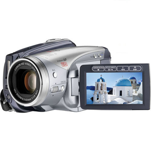 """Canon VIXIA HV20 HDV Camcorder, 1/2.7"""" 2.96MP CMOS Sensor, 1920 x 1080 Resolution, 24p Frame Rate, with 10x Optical Zoom, Optical Image Stabilizer, HDMI, Hot Shoe and HC miniSD Card Slot"""
