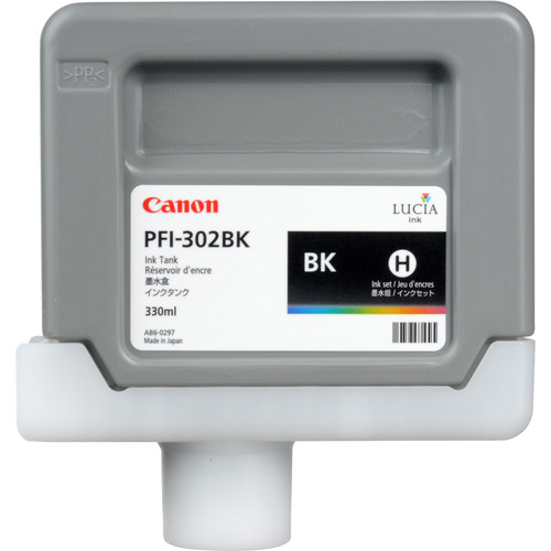 Canon PFI-302 Black Ink Tank (330 ml)