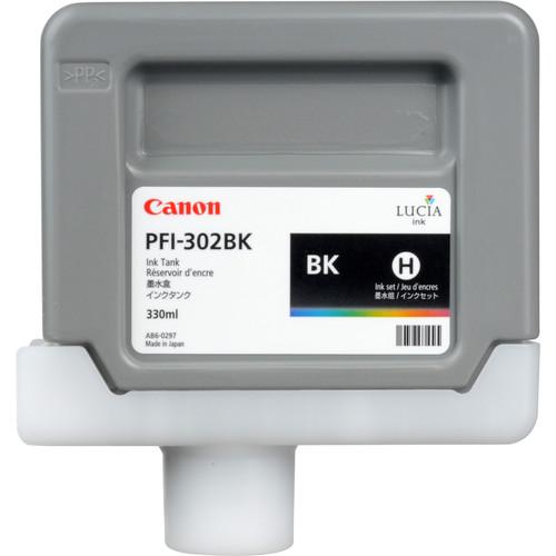 Canon PFI-302 Black Ink Tank (330 ml)
