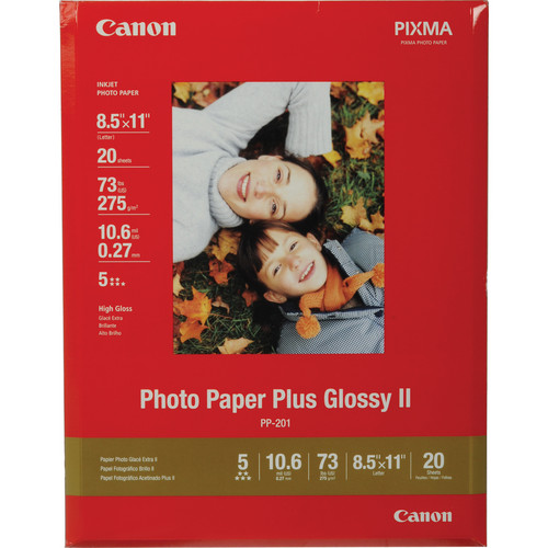 "Canon Photo Paper Plus Glossy II (8.5 x 11"")"