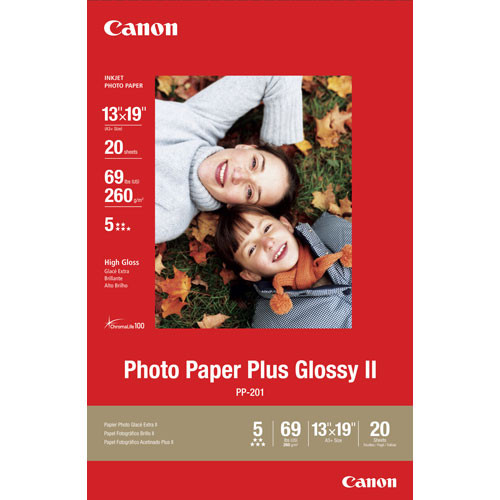 "Canon Photo Paper Plus Glossy II (13 x 19"")"