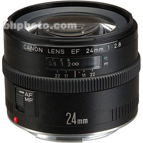 Canon Wide Angle EF 24mm f/2.8 Autofocus Lens