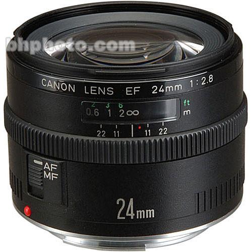 Canon Wide Angle EF 24mm f/2.8 Autofocus Lens