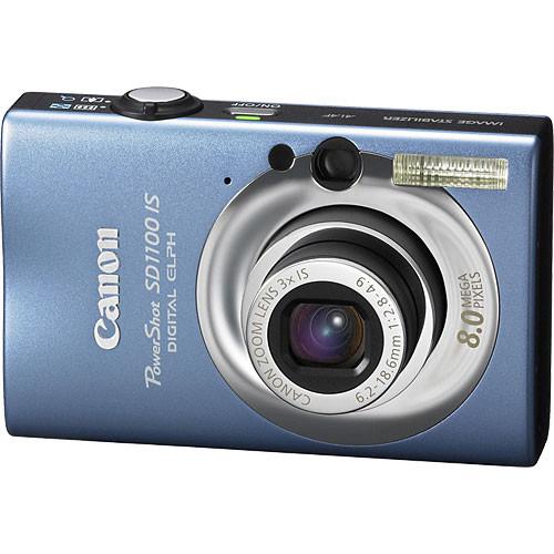 Canon PowerShot SD1100 IS Digital ELPH Digital Camera (Rythm & Blue)
