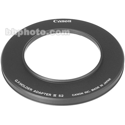 Canon 52mm Adapter Ring for Gelatin Filter Holder III
