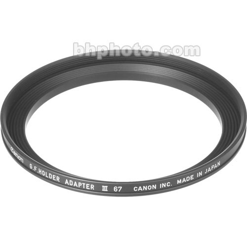 Canon 67mm Adapter Ring for Gelatin Filter Holder III