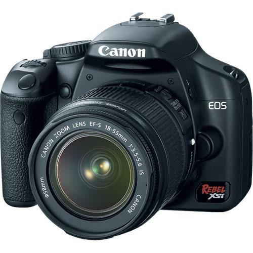 Canon EOS REBEL XSi w/EF-S/18-55 IS (BLACK)