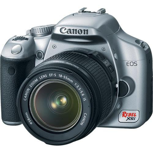 Canon EOS Rebel XSi (a.k.a. 450D) SLR Digital Camera Kit (Silver) with 18-55mm IS Lens