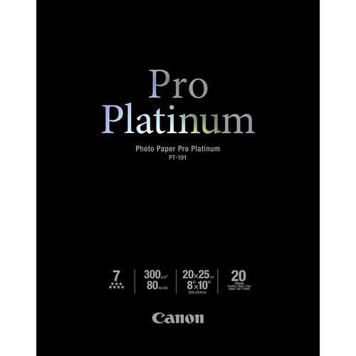 """Canon Pro Platinum Photo Paper 8 x 10"""" (20 Sheets)"""