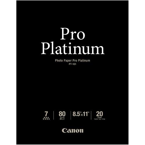 "Canon Pro Platinum Photo Paper 8.5 x 11"" (20 Sheets)"