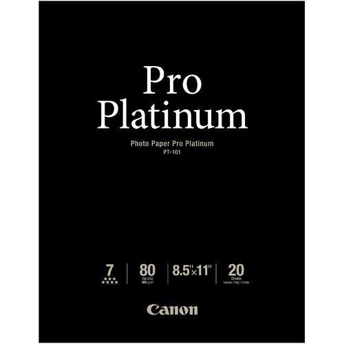 """Canon Pro Platinum Photo Paper 8.5 x 11"""" (20 Sheets)"""