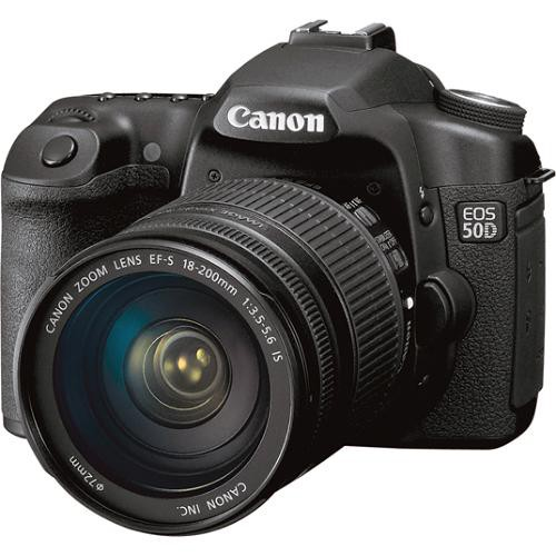 Canon EOS 50D SLR Digital Camera Kit with Canon 18-200mm EF-S IS Lens