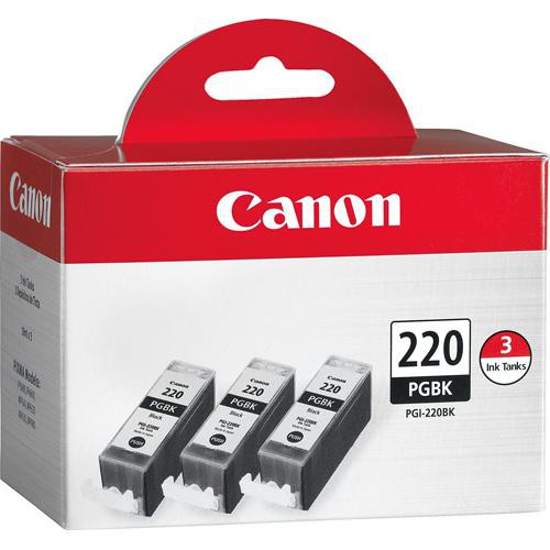 Canon PGI-220 Black Ink Tank 3-Pack
