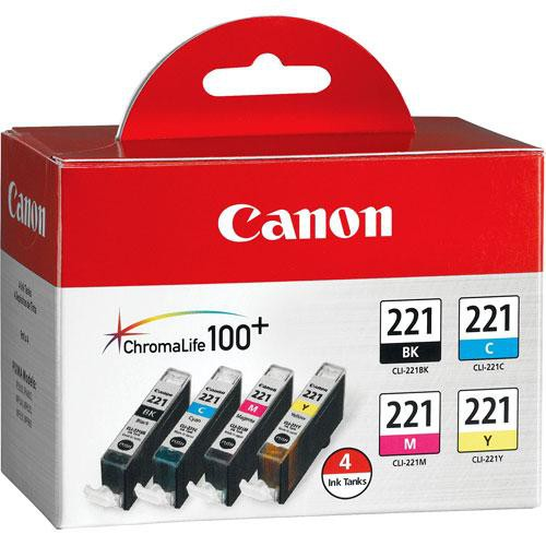 Canon CLI-221 Four-Color Ink Tank Pack