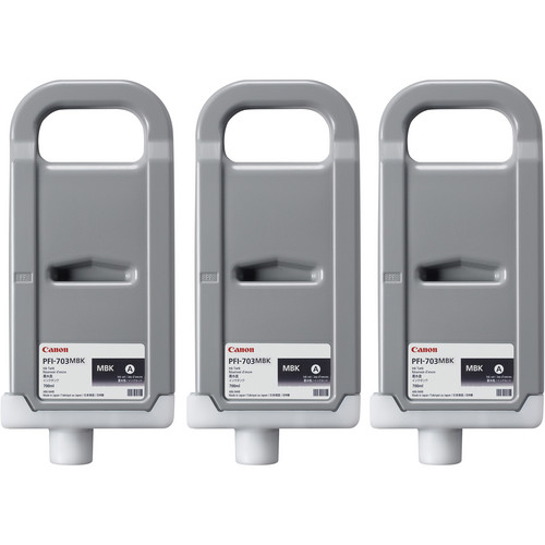 Canon PFI-703 700 ml Matte Black Ink Tank (3 Pack)