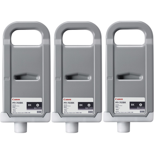 Canon PFI-703 700 ml Black Ink Tank (3 Pack)