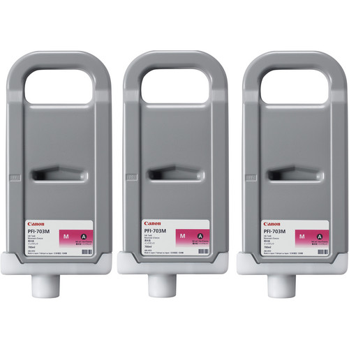 Canon PFI-703 700 ml Magenta Ink Tank (3 Pack)
