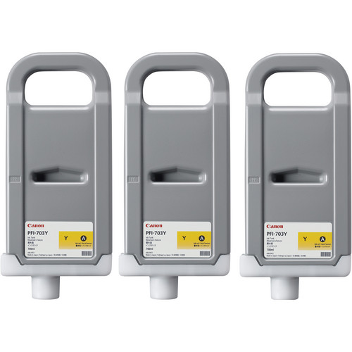 Canon PFI-703 700 ml Yellow Ink Tank (3 Pack)