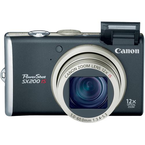Canon PowerShot SX200 IS Digital Camera (Black)