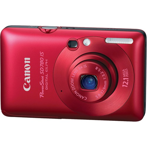 Canon PowerShot SD780 IS Digital Camera (Red)
