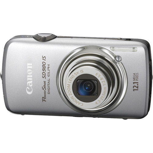 Canon PowerShot SD980 IS Digital Camera (Silver)