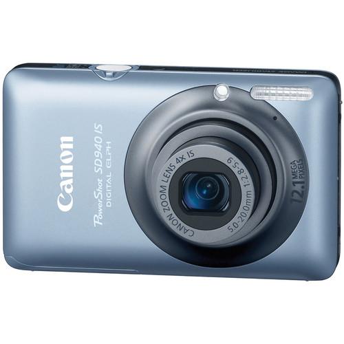 Canon PowerShot SD940 IS Digital Camera (Blue)