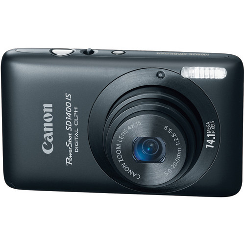 Canon PowerShot SD1400 IS Digital ELPH (Black)