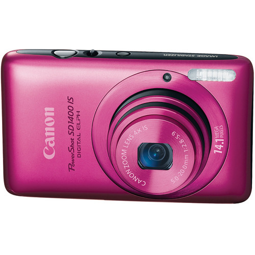 Canon PowerShot SD1400 IS Digital ELPH (Pink)