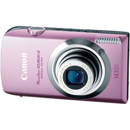 Canon PowerShot SD3500 IS Digital ELPH Camera (Pink)