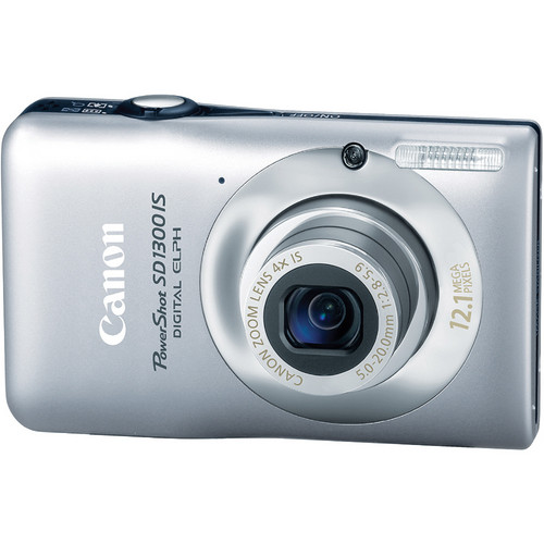 Canon PowerShot SD1300 IS Digital ELPH Camera (Silver)