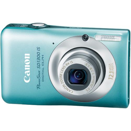 Canon PowerShot SD1300 IS Digital ELPH Camera (Green)