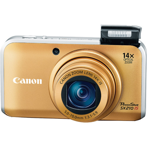 Canon PowerShot SX210 IS Digital Camera (Gold)