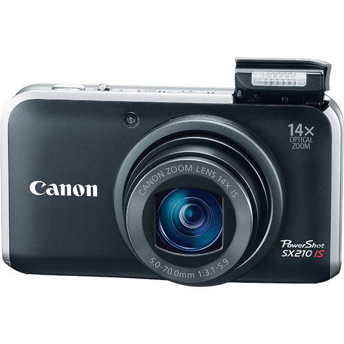 Canon PowerShot SX210 IS Digital Camera (Black)