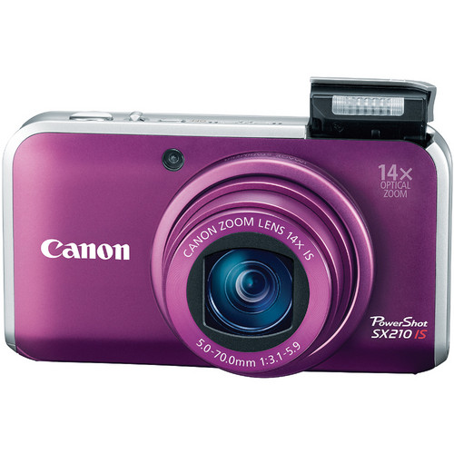 Canon PowerShot SX210 IS Digital Camera (Purple)