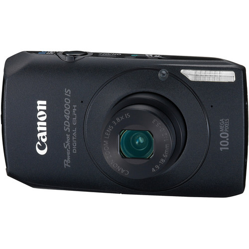 Canon PowerShot SD4000 IS Digital ELPH Camera (Black)