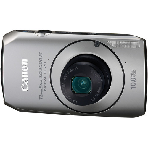 Canon PowerShot SD4000 IS Digital ELPH Camera (Silver)