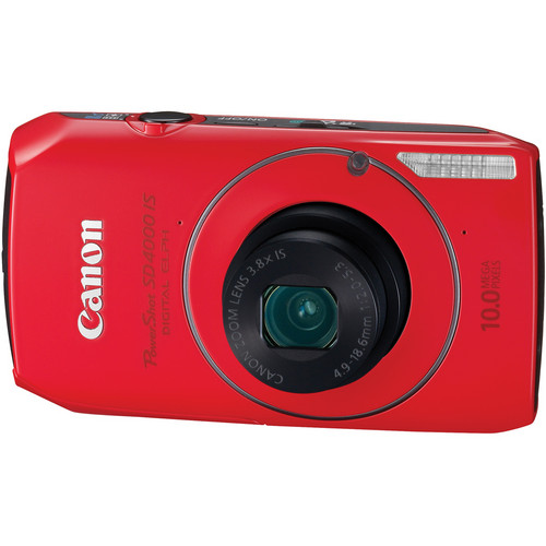 Canon PowerShot SD4000 IS Digital ELPH Camera (Red)