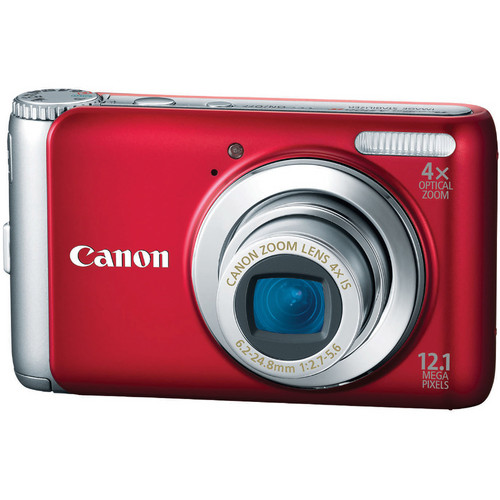 Canon PowerShot A3100 IS Digital Camera (Red)