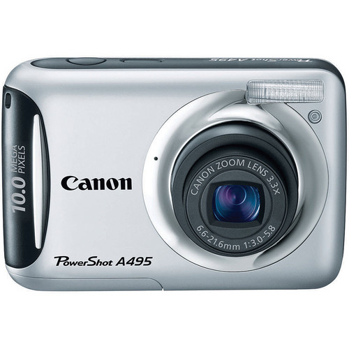Canon PowerShot A495 Digital Camera (Silver)