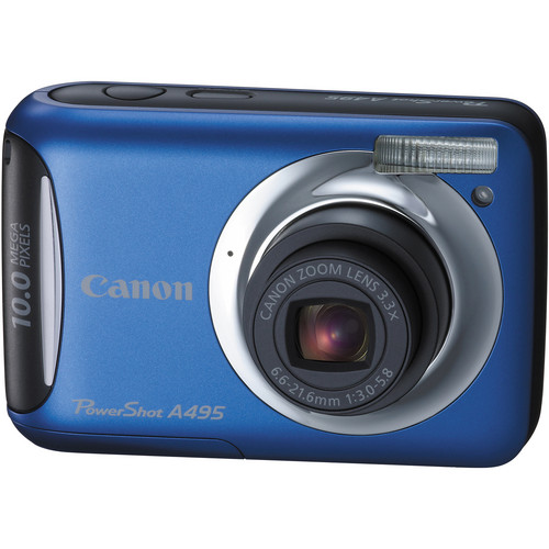 Canon PowerShot A495 Digital Camera (Blue)
