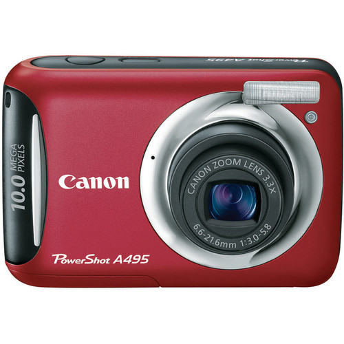 Canon PowerShot A495 Digital Camera (Red)